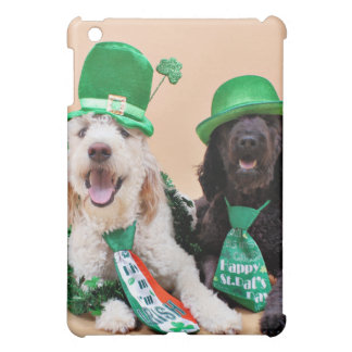 St Pats Day - GoldenDoodles - Sadie and Izzie iPad Mini Covers