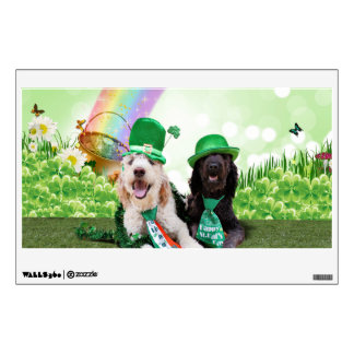 St Pats Day - GoldenDoodles - Sadie and Izzie Wall Decal