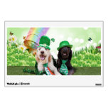 St Pats Day - GoldenDoodles - Sadie and Izzie Wall Graphics
