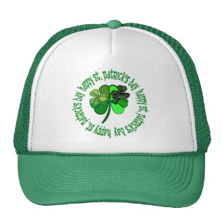 st. pats day mesh hat