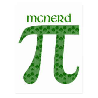 St. Pat's Day Pi Tees - McNerd - Great Gift Idea Postcard