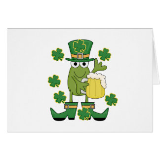 St. Pats Frog with Beer T-shirts and Gifts Card