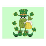 St. Pats Frog with Beer T-shirts and Gifts Postcard
