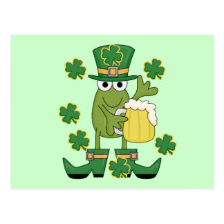 St. Pats Frog with Beer T-shirts and Gifts Post Card