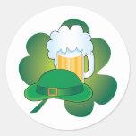 St Pats Hat Round Sticker