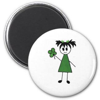 St. Patty 2 Inch Round Magnet