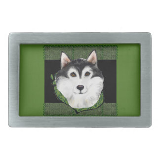ST PATTY  Alaskan Malamute Belt Buckle