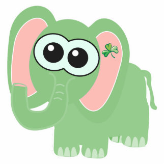 St. Patty's Day Goofkins elephant Statuette