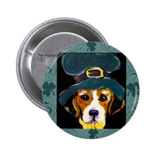 St. Patty Beagle Buttons