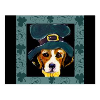 St. Patty Beagle Postcard