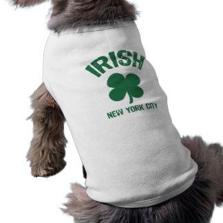 St Patty camiseta New York City del perrito Ropa Macota