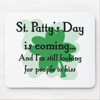 st patty looking mouse pad