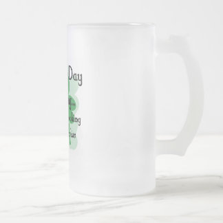 st patty looking 16 oz frosted glass beer mug