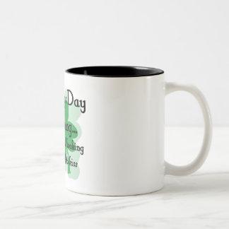 st patty looking Two-Tone coffee mug