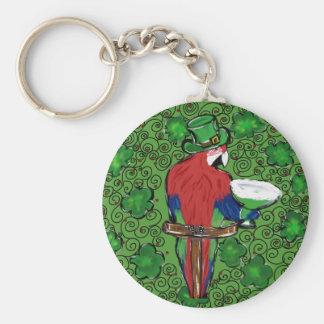 St Patty Parrot Keychain