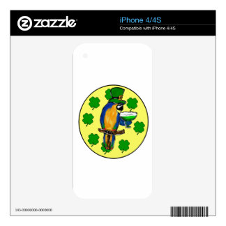 ST. PATTY PARROT SKINS FOR iPhone 4S