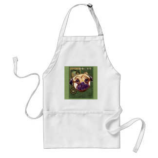 ST. PATTY PUG ADULT APRON