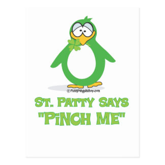 St Patty Says Pinch Me Post Card