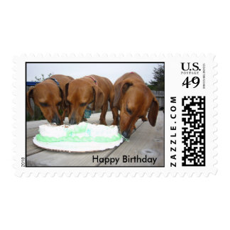 St Pattys Day 08, Happy Birthday Postage Stamp