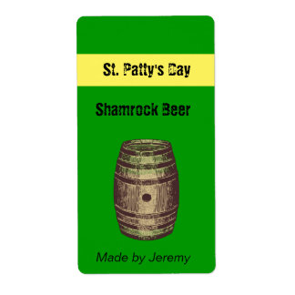 St. Patty's Day Beer Label