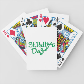 St. Pattys Day Bicycle Playing Cards