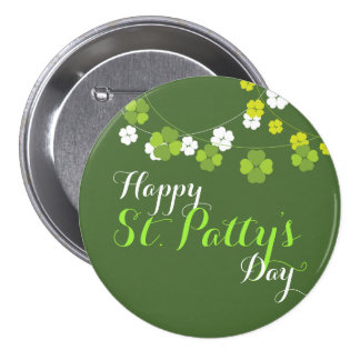 St. Patty's Day Button - Green