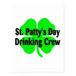 St Pattys Day Drinking Crew Postcard