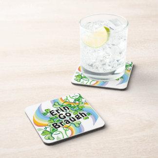 St. Patty's Day Erin Go Braugh Drink Coaster
