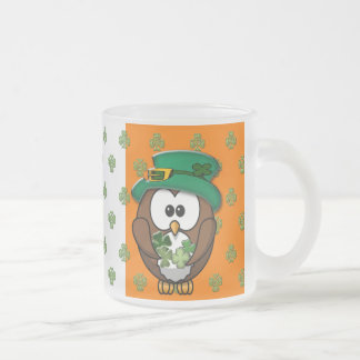 St. Patty's Day Frosted Glass Coffee Mug