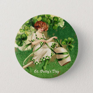 St. Patty's Day Girl Button