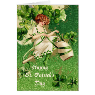 St. Patty's Day Girl Greeting Card