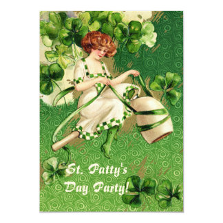 St. Patty's Day Girl Party Invitation