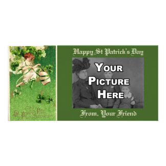 St. Patty's Day Girl Photo Card