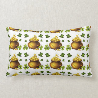 St Pattys Day Gold American MoJo Pillow