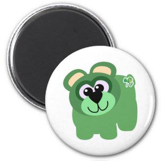 St. Pattys Day Goofkins bear 2 Inch Round Magnet