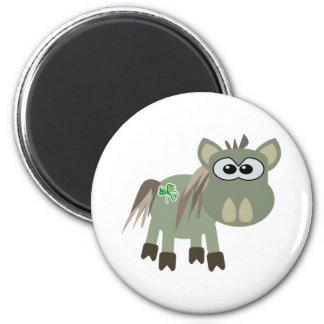 St. Pattys Day Goofkins donkey 2 Inch Round Magnet