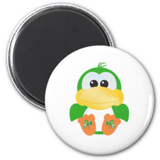 St. Pattys Day Goofkins Duck 2 Inch Round Magnet