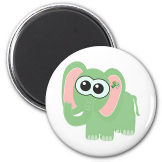 St. Pattys Day Goofkins elephant 2 Inch Round Magnet