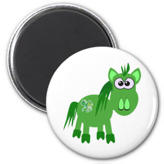 St. Pattys Day Goofkins horse 2 Inch Round Magnet