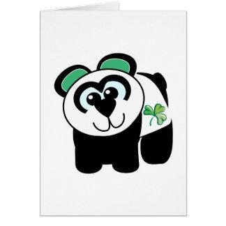 St. Pattys Day Goofkins panda Card