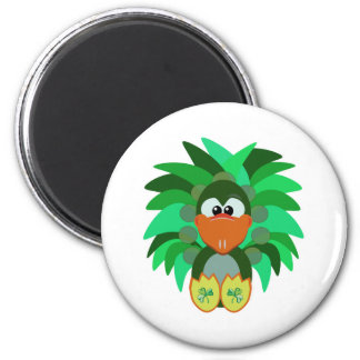 St. Pattys Day Goofkins peacock 2 Inch Round Magnet