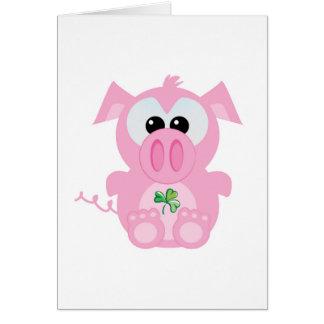 St. Pattys Day Goofkins piggy Card