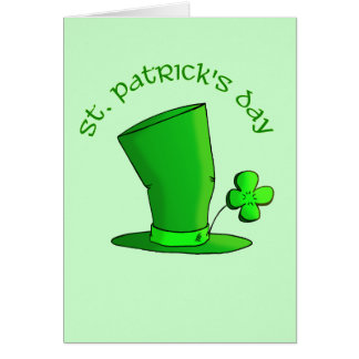 St Patty's Day Hat Card
