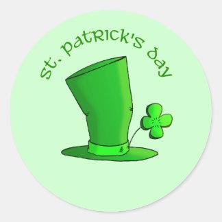 St Patty's Day Hat Classic Round Sticker