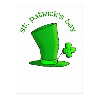St Patty's Day Hat Postcard