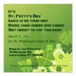 """St. Patty's Day invitation 5.25"""" Square Invitation Card"""