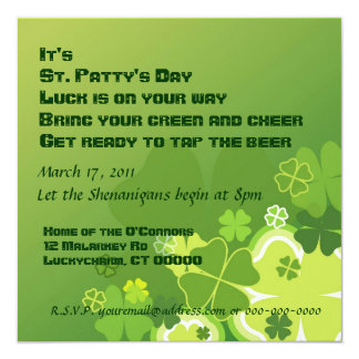 St. Patty's Day invitation