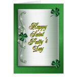 St pattys day Irish blessing greeting card