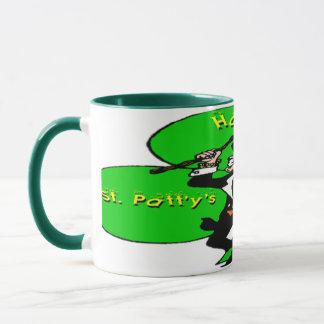 St Patty's Day Leprechaun Shamrock Mug