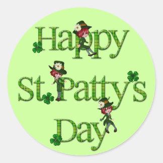 St. Patty's Day Leprechaun Classic Round Sticker